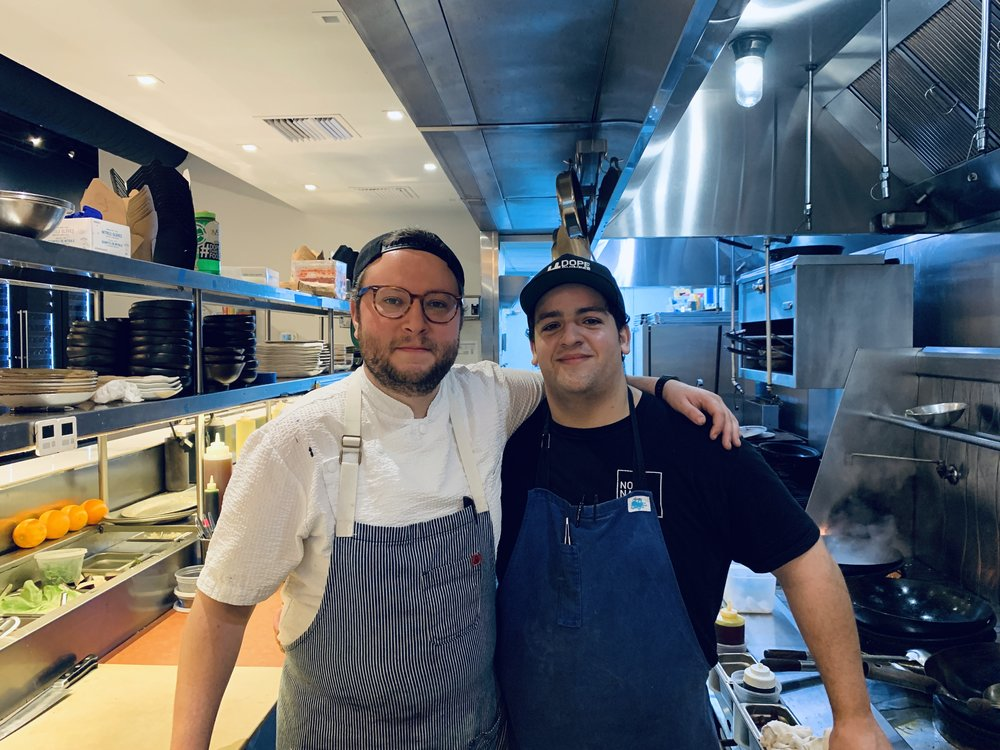 Chef Pablo Zitzmann and Sous Chef Angel No Name Chinese