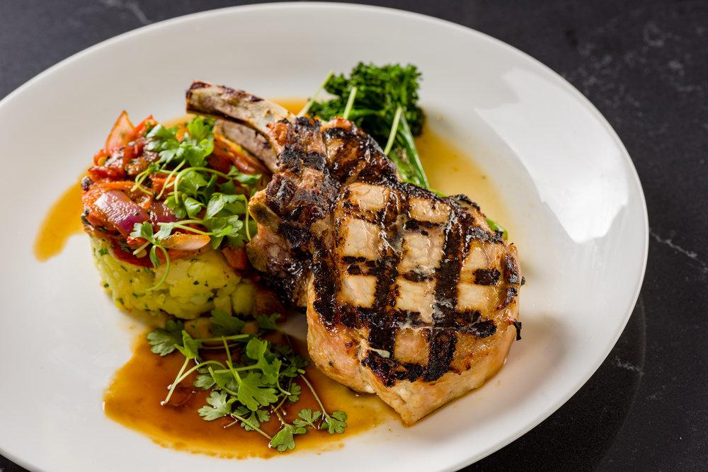 Isabelles Ritz Carlton Coconut Grove pork chop