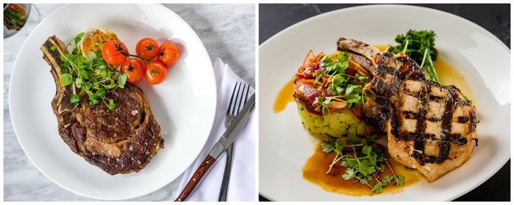 Isabelles Ritz Carlton Ribeye and Pork Chop Mains