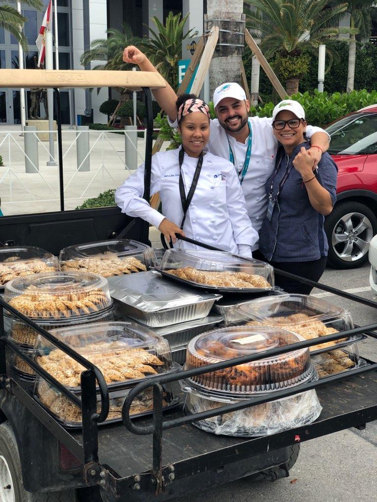 Hard Rock Stadium Chef Dayanny and team