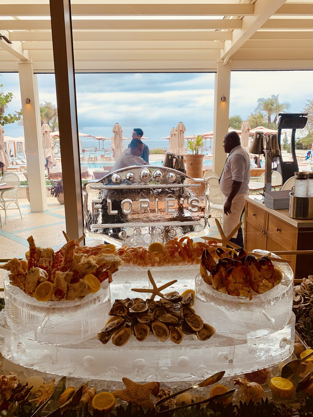 Florie's by Mauro Colagreco Seafood Brunch
