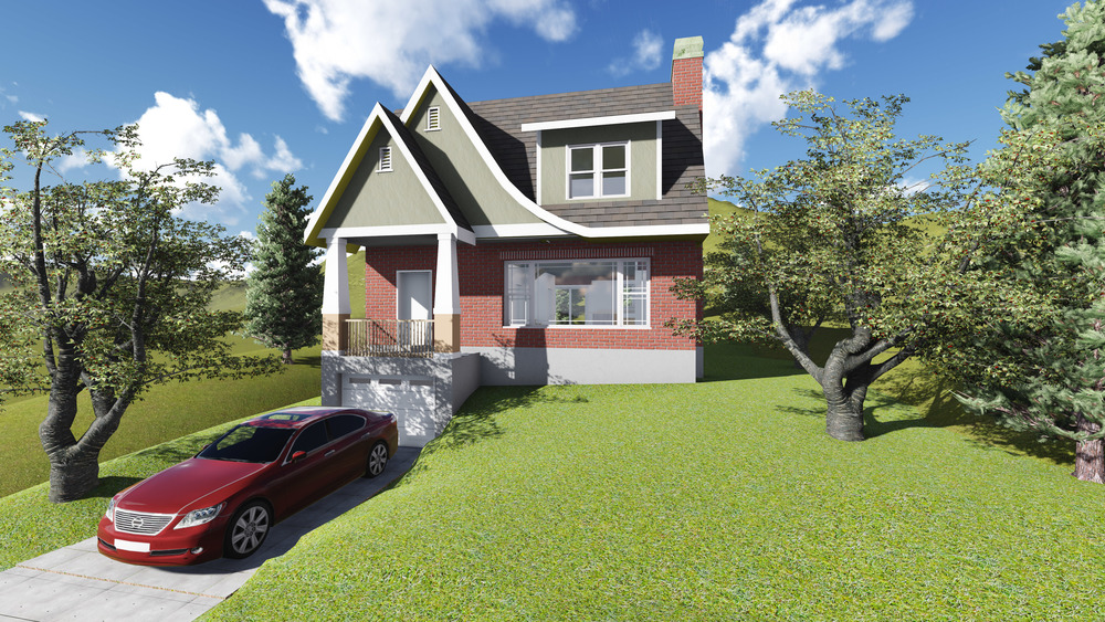 Currently in design, this is the proposed look for a second story addition of an existing century old house.  In collaboration with Inhabit Design Build.