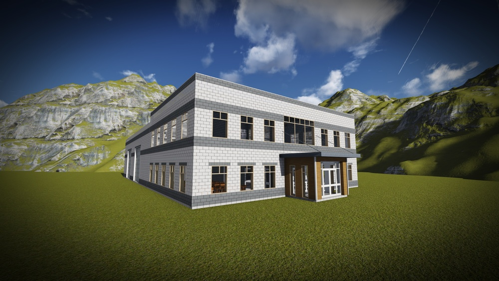 "A 3D rendering of a building currently under design.  Helping people ""see"" is so much easier today because of computer technology.  At DEIV Architecture, we extensively use 3D modeling on every project, so clients can always get to ""see"" their world."
