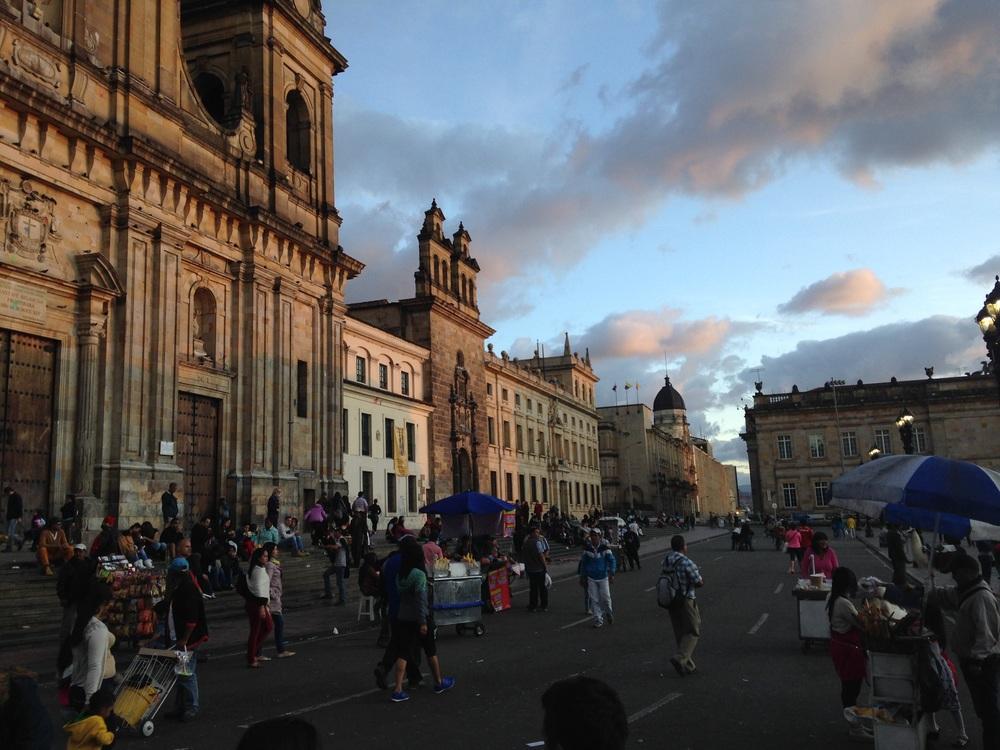 Main square in Bogota