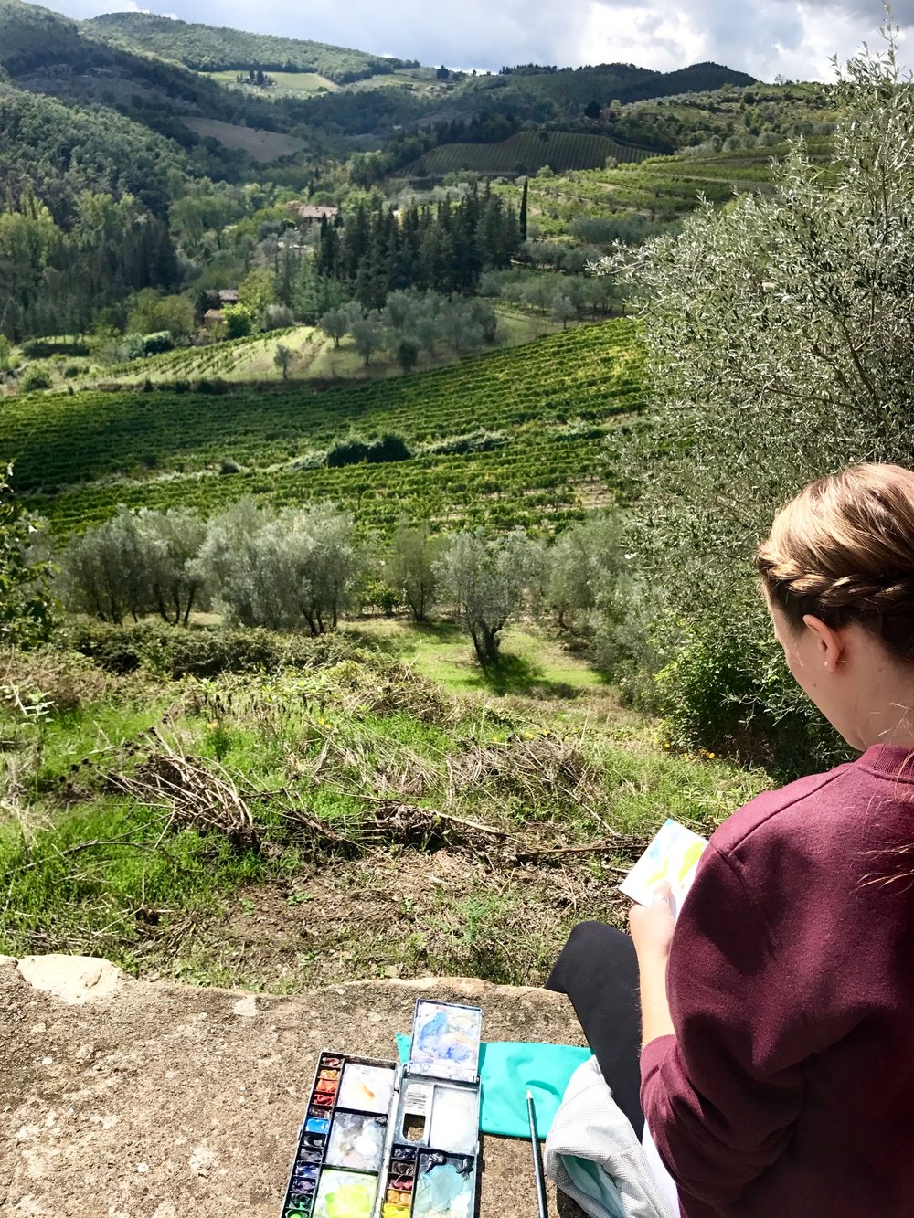 (Painting  en plein air  in Tuscany in the fall of 2017)