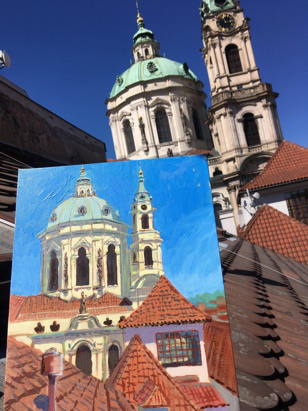 Window View in Prague
