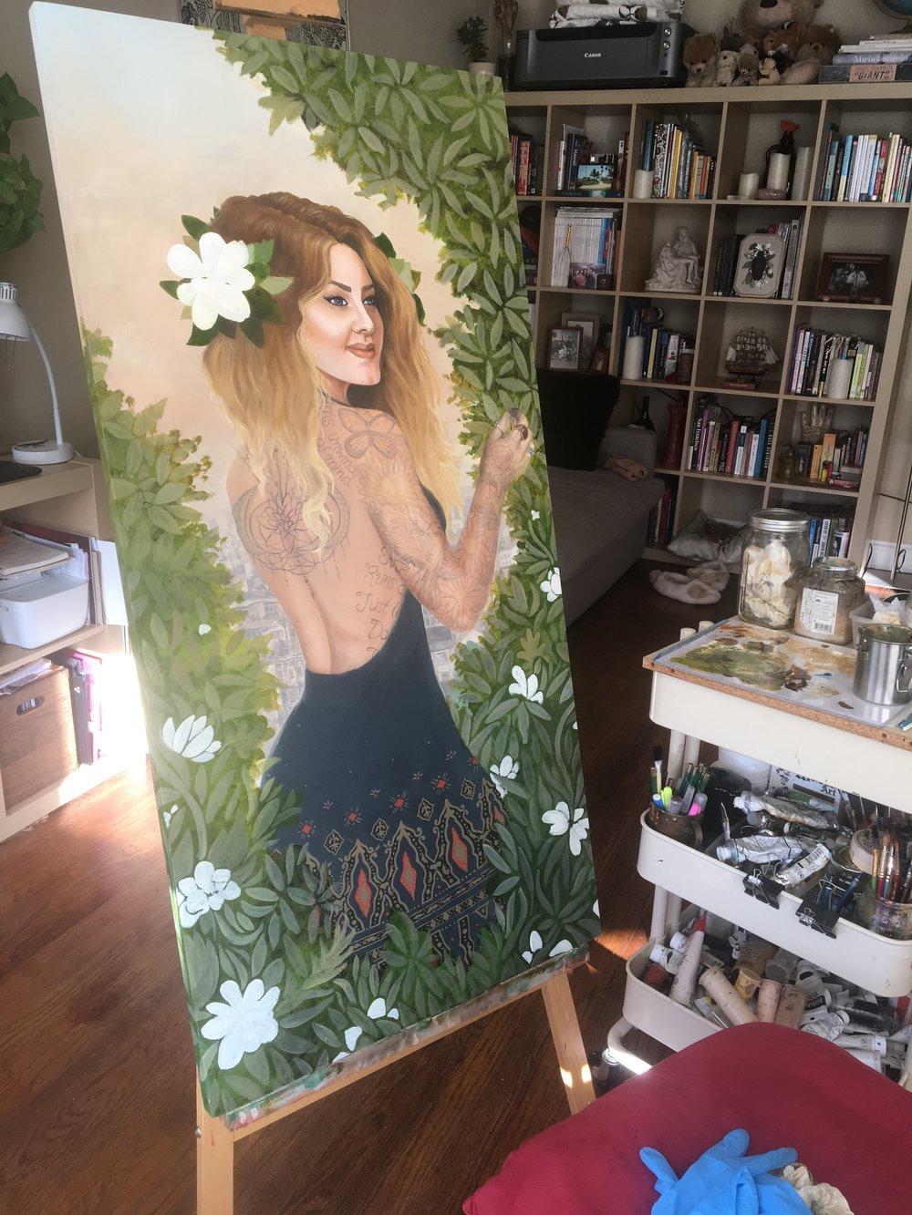 Jessica Violetta Summer Process 3