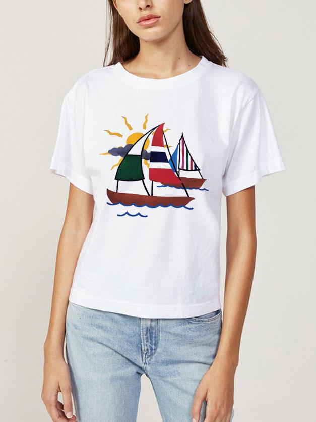 Jessica Violetta Sailboat Shirt