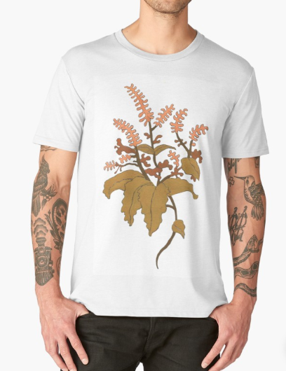 JV Floral Branch T Shirt