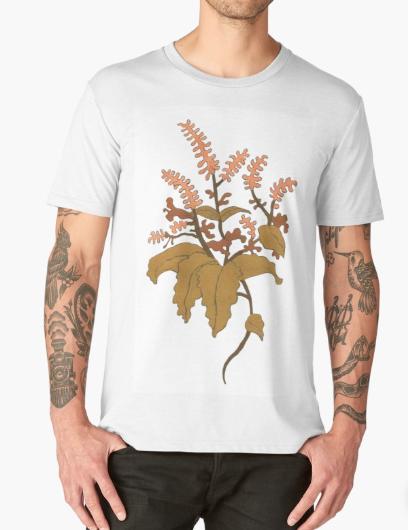 JV Floral Branch T Shirt