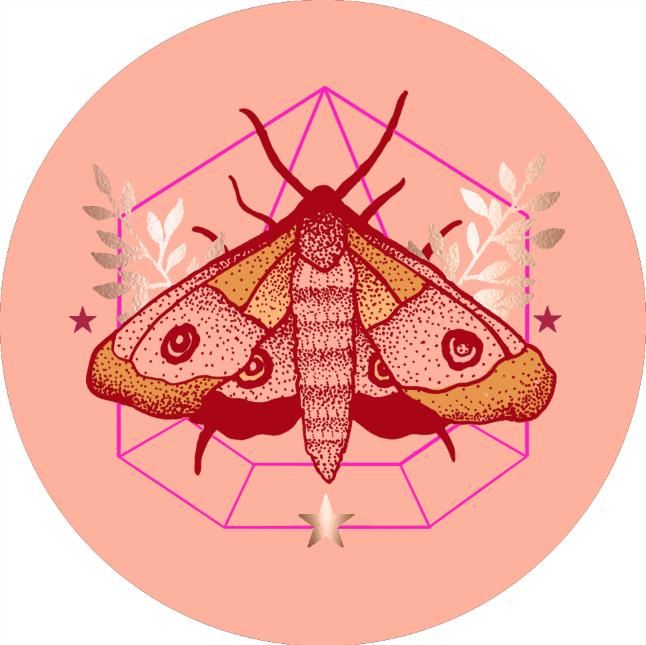 JV Popsocket Moth Warm