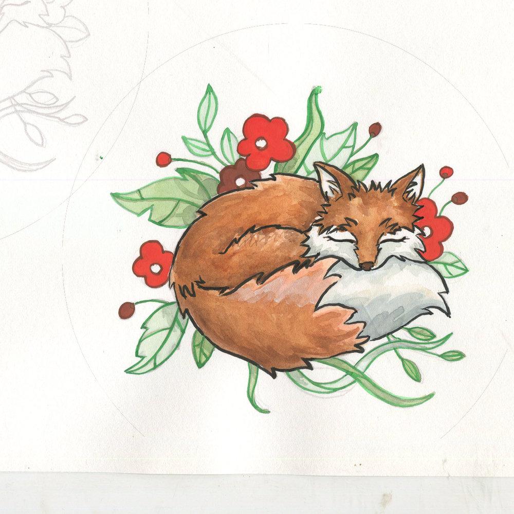 JV Popsocket Fox Painting