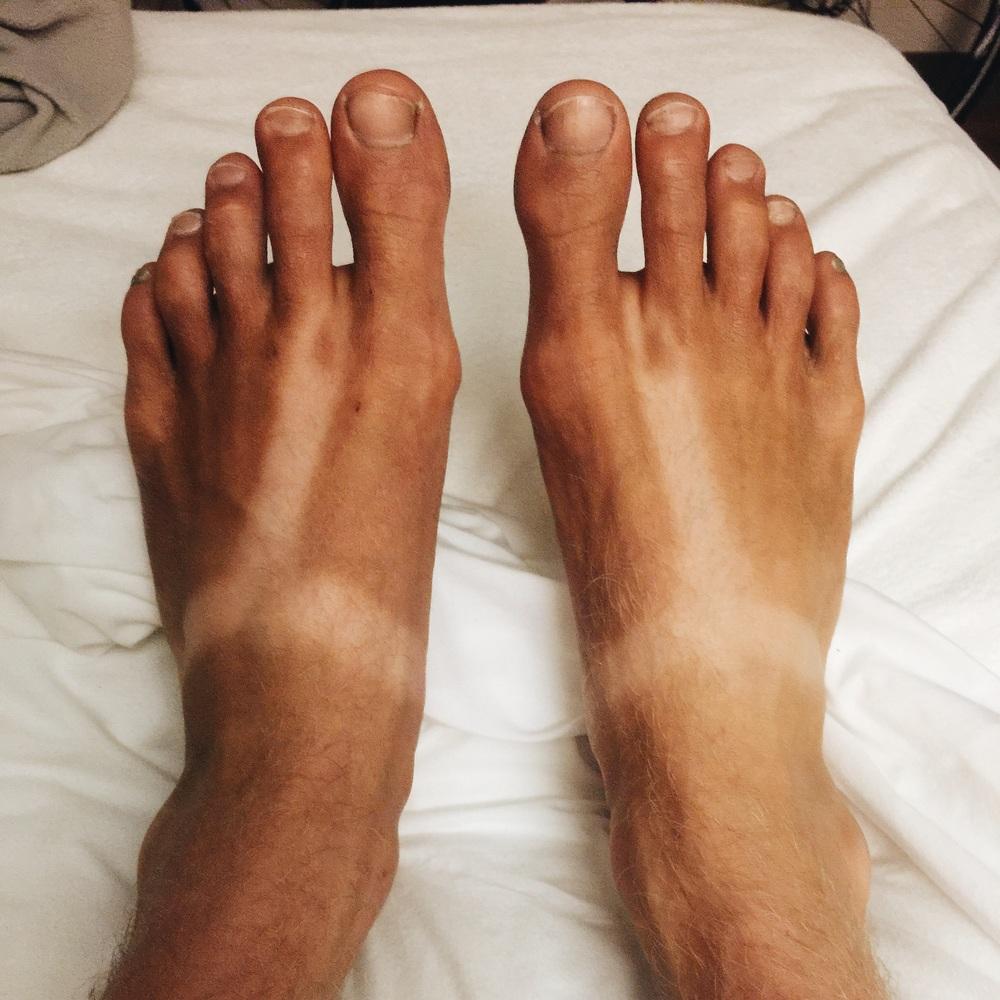 Sandal tan so far...