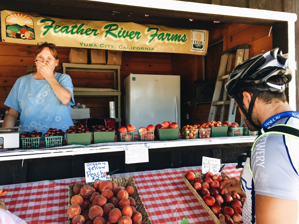 Finding an organic fruit stand in Yuba City/Knights Landing
