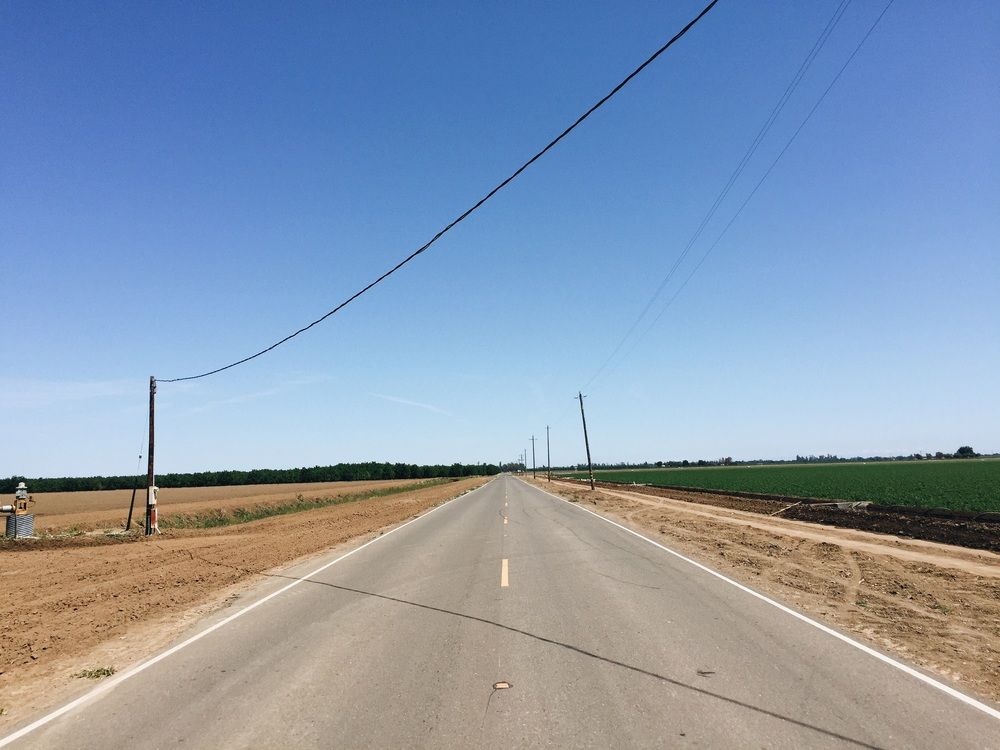Long stretches of road