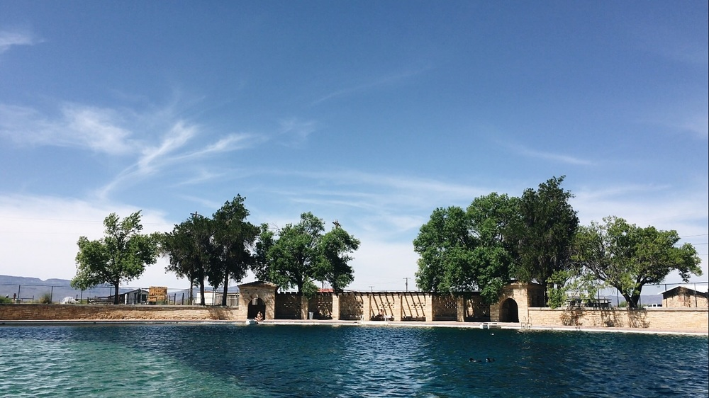 The world's largest freshwater pool, a much needed rest and relaxing experience.