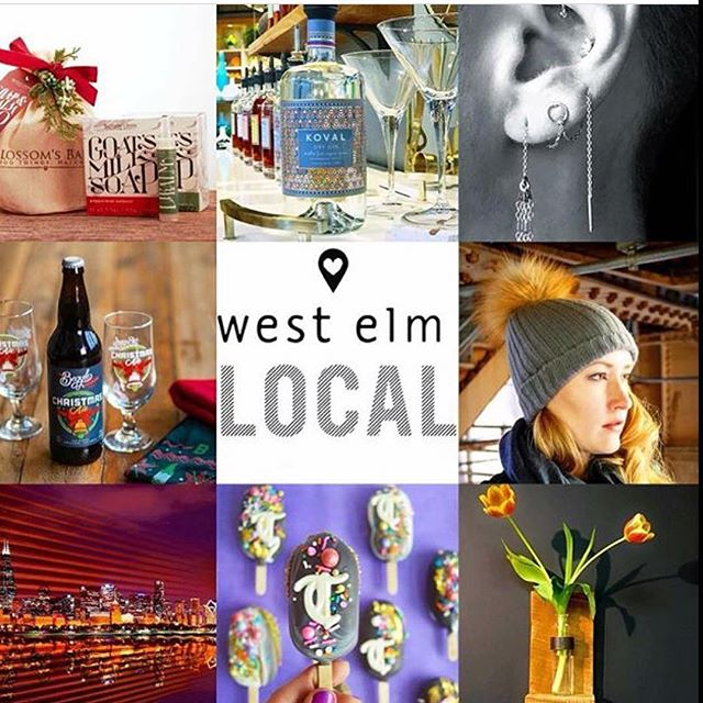 Today we're popping @westelmchicago with 10 #chicago entrepreneurs for the last Meet the Maker event of the season! Come show your #locallove & help #supportsmallbusiness by shopping our wares, drink, eat & be merry - were here til 4pm!