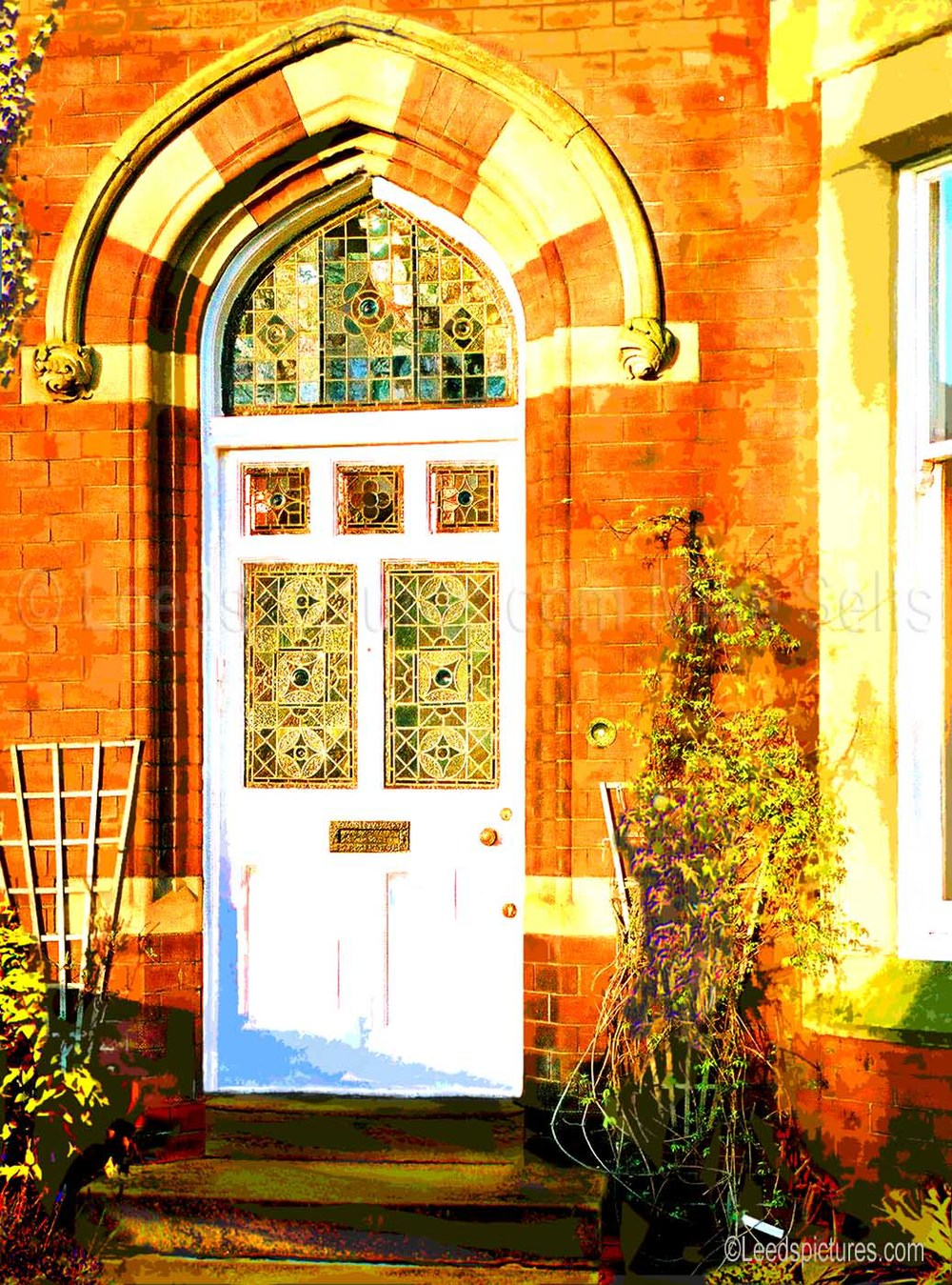 Victorian doorway on Otley Road    The last rays of the sun just reaching this perfect doorway on a terrace up by St Chad's