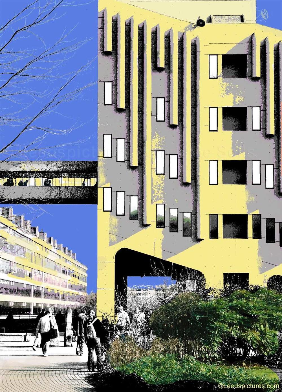 Leeds University: The Roger Stevens building    The Roger Stevens building ... in a new light
