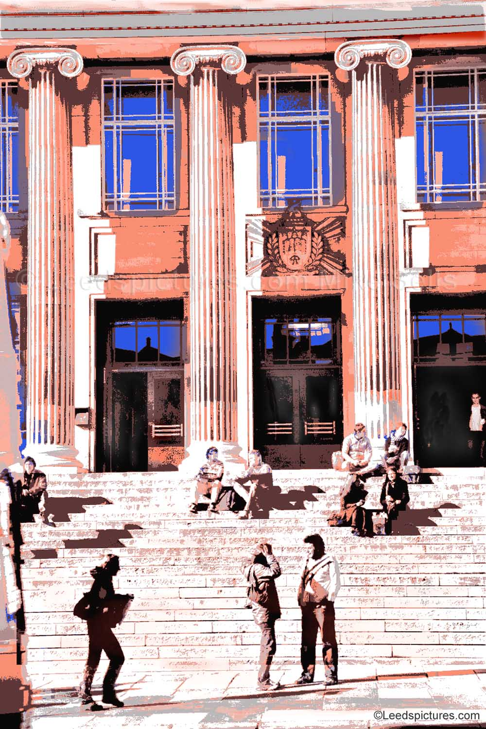 Leeds University: The Parkinson Steps    Meeting on the steps in the sunshine -  just friends or new relationships ...