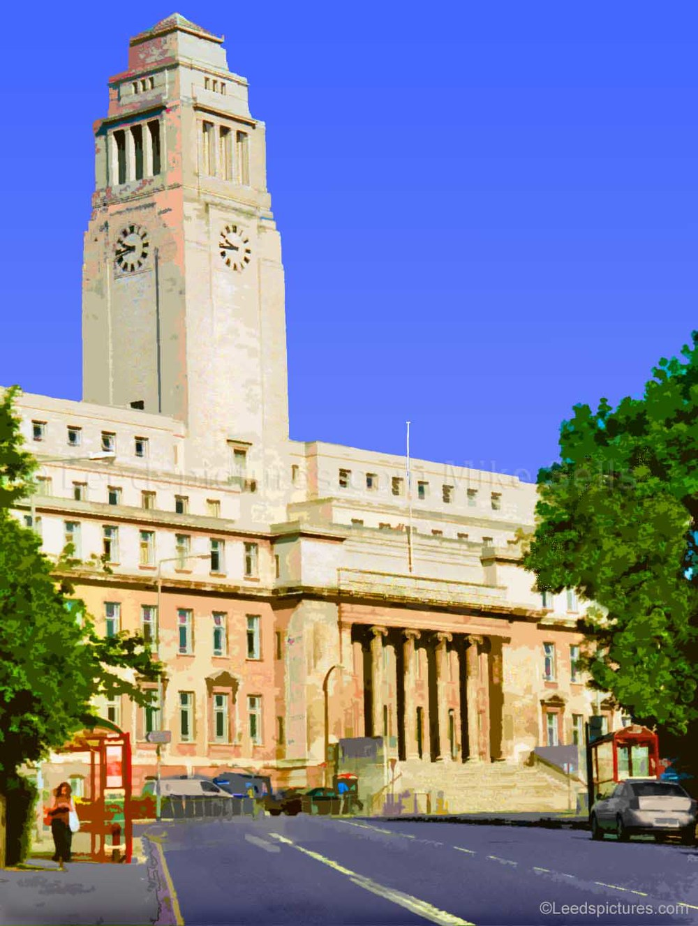 Leeds University: The Parkinson Building     The iconic outline that can be seen from many parts of Leeds