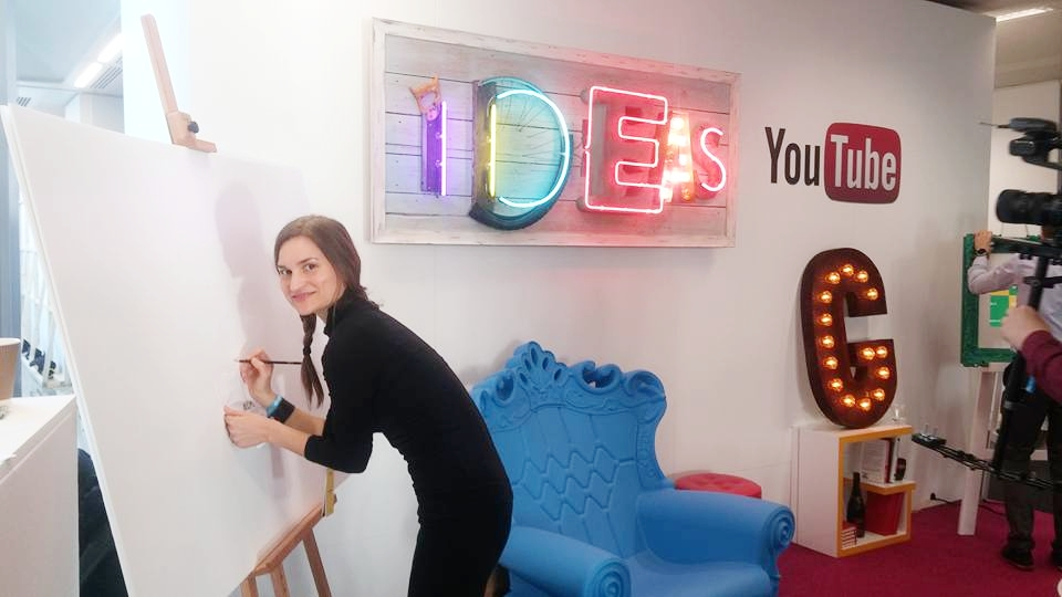 Raquel, one of our talented graphic facilitators at YouTube Google event. London 2015