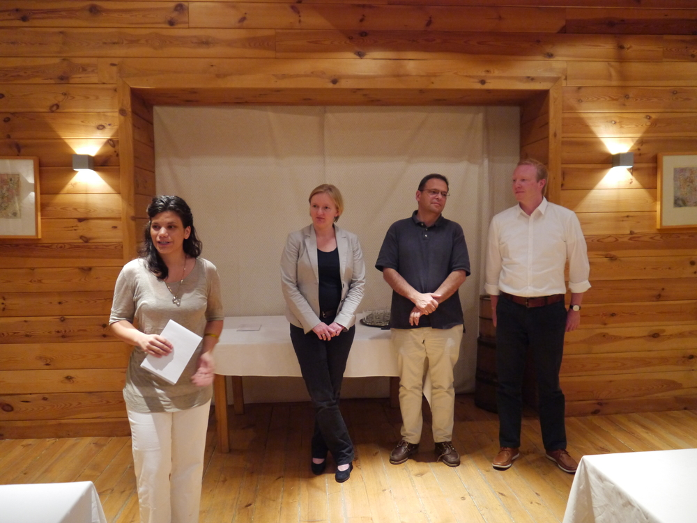 Jurors announcing 2012 winners in Kolasin, Montenegro