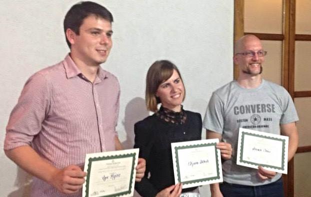 From left: Igor Kojcic, Eltjana Shkreli, Stevan Covic