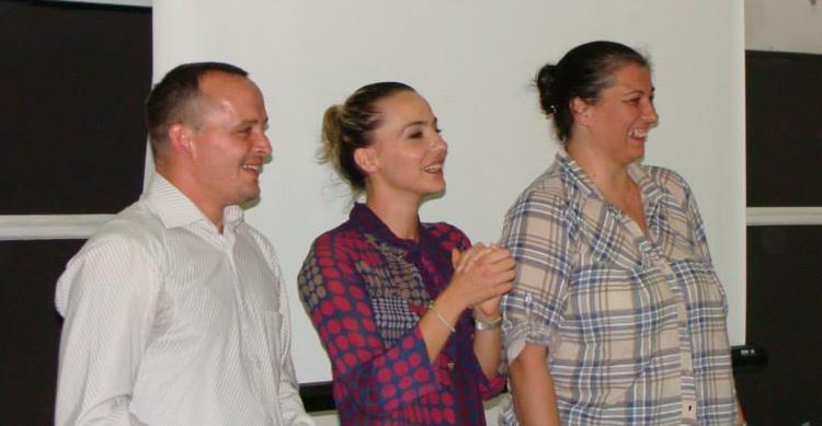 From left:Josip Grabarevic, Pezana Rexha, Anica Simovic