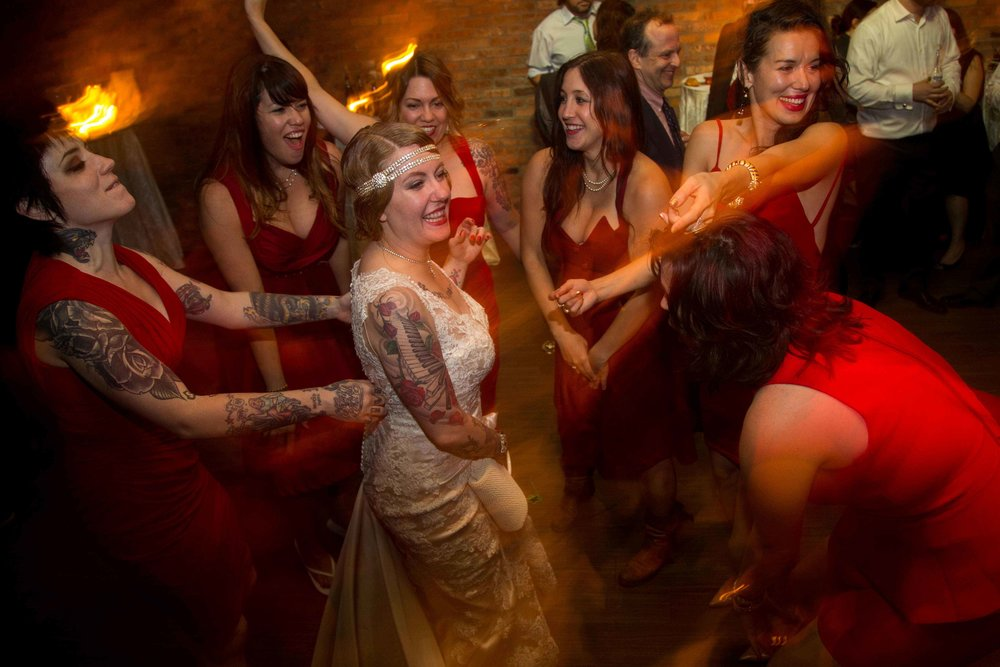 Dancing with Bridesmaids