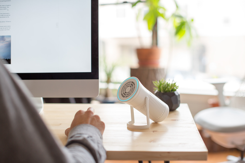 Wynd | The smartest air purifier for your personal space  Wynd monitors and cleans the air as needed, It's portable, so you can breathe easy wherever you go.   Wynd Website
