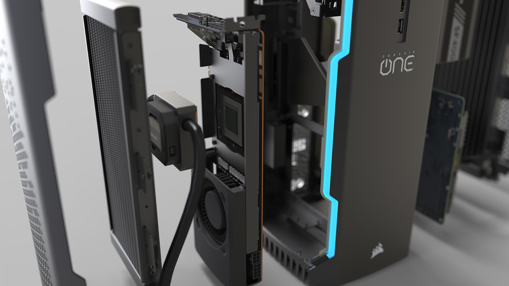 Corsair One | An iconic, premium gaming PC, redefined  Crafted with painstaking attention to detail, the compact, quiet, powerful PC is engineered from the ground up to go the distance on performance.   Corsair One Website