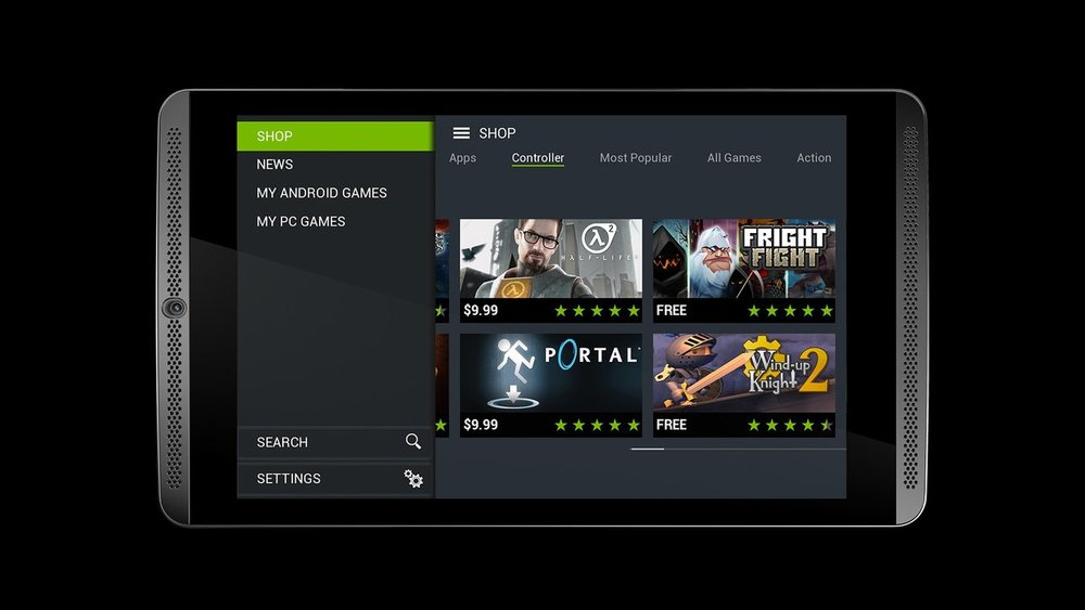 Nvidia Shield | The ultimate tablet for gamers  The Shield is a high-performance Android tablet that transforms into an amazing gaming machine with the SHIELD controller and GeForce NOW™ game-streaming service.   Nvidia Shield Website