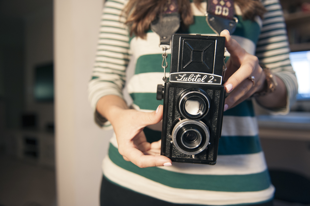 Ain't she a beauty? My fiancé Corrina and Rebecca, our Lubitel 2.