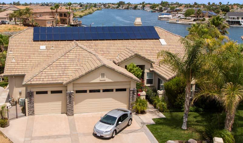 Home featuring SunPower Panels