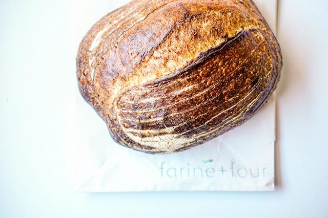 Can't wait to try this loaf from @farinefouromaha that I got today!! On the menu tonight: bread + butter. 🤩