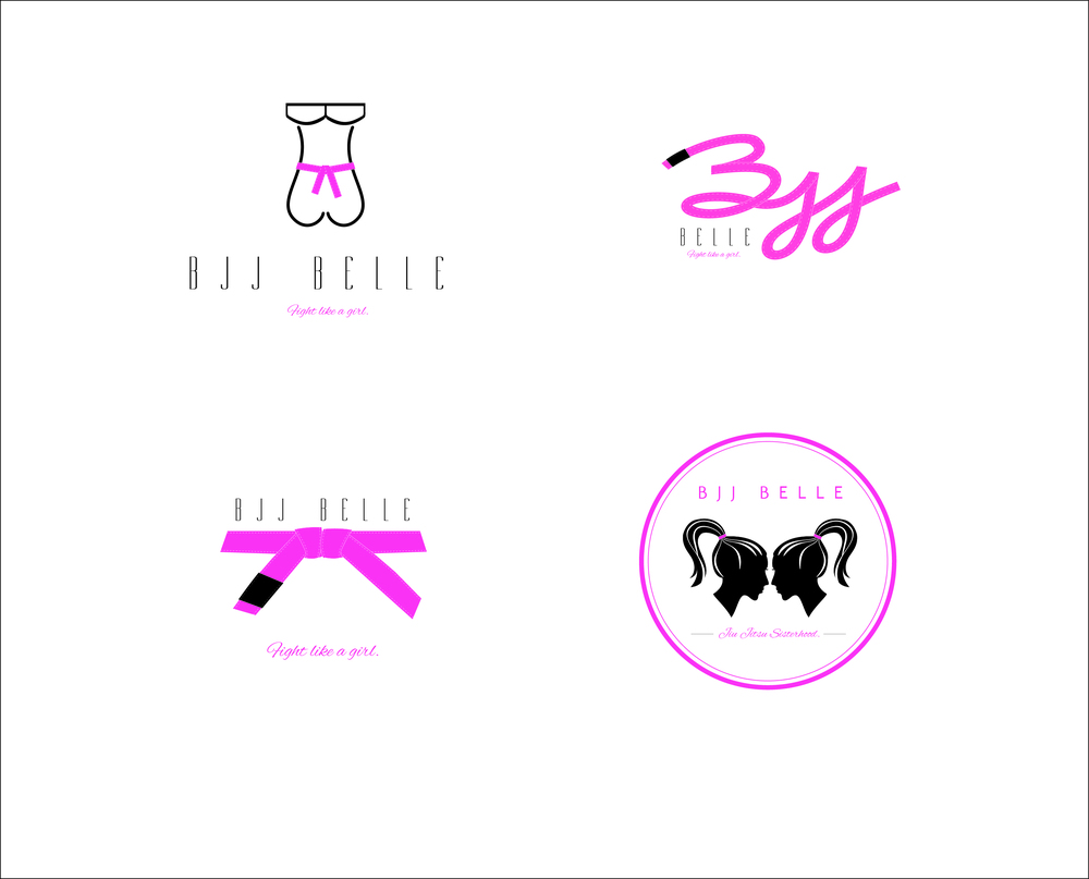 Logo exploration for women's Jui Jitsu clothing line