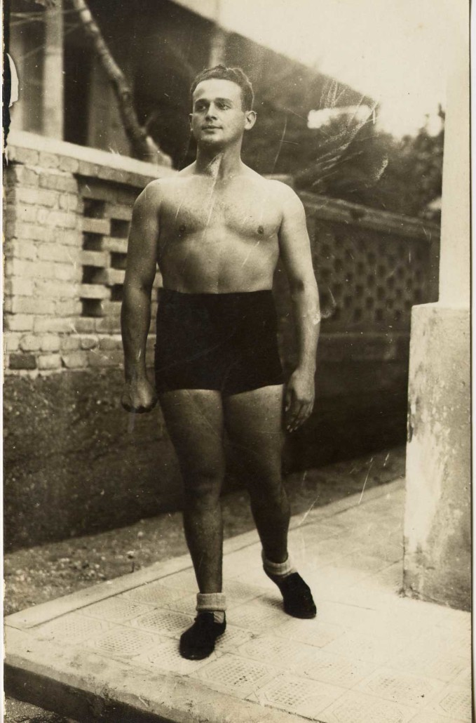 Moshé Feldenkrais during his time in Israel in the 1920s.