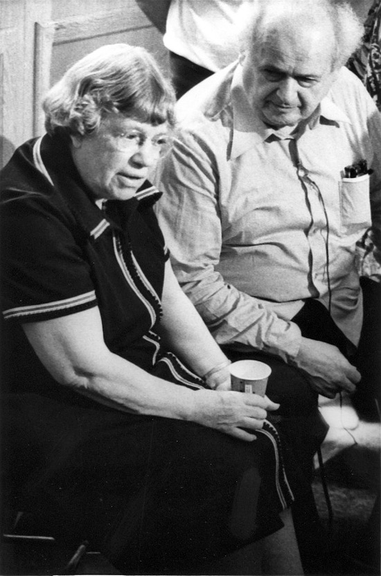 "Dr. Feldenkrais with the anthropologist Margaret Mead in the 1970s. Mead said of his method, "" This is the most sophisticated and effective method I have seen for the prevention and reversal of deterioration of function. """