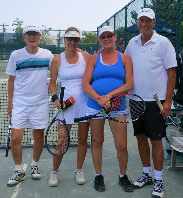 The final four in the SYC Mixed-Up Doubles
