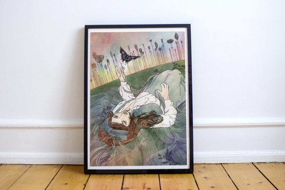 "A poster for Melissa Kelly-Franklin's award winning short film ""Portrait."""