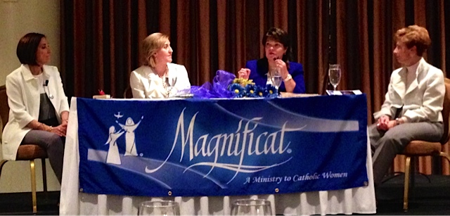 Kathleen, Donna Ross, Dorinda Bordlee, Maria Vadia at the 2015 International Magnificat Leaders Conference DC