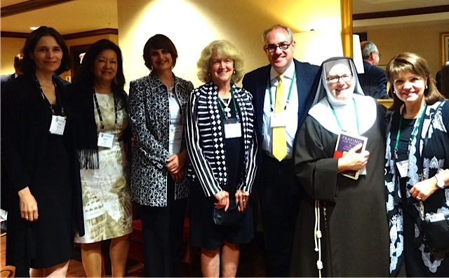 The Napa Institute 2014 with EWTN's Michael Warsaw and Mother Dolores of the Poor Clares
