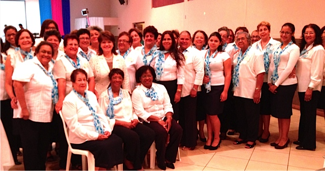 Aruba Magnificat Leadership at Prayer Breakfast for 300 women 2014