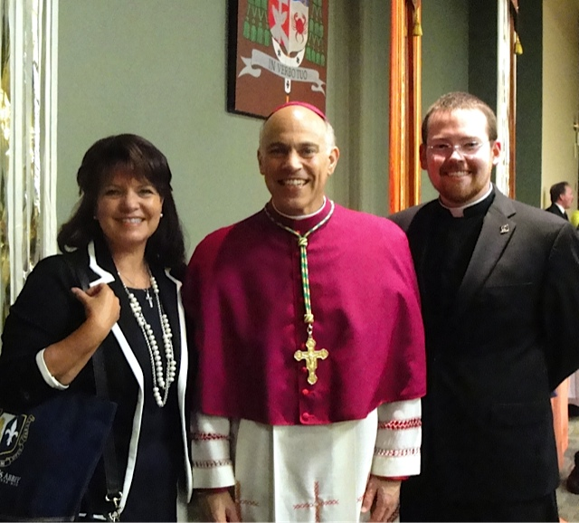 Kathleen & Seminarian Tim Donavon at Archbishop Salvatore Cordileone's Installation in San Francisco, CA
