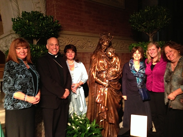 Archbishop Cordilieone & Kathleen at St. Patrick's Seminary, CA
