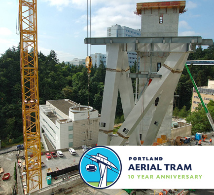 The Marquam Hill Terminal under construction.