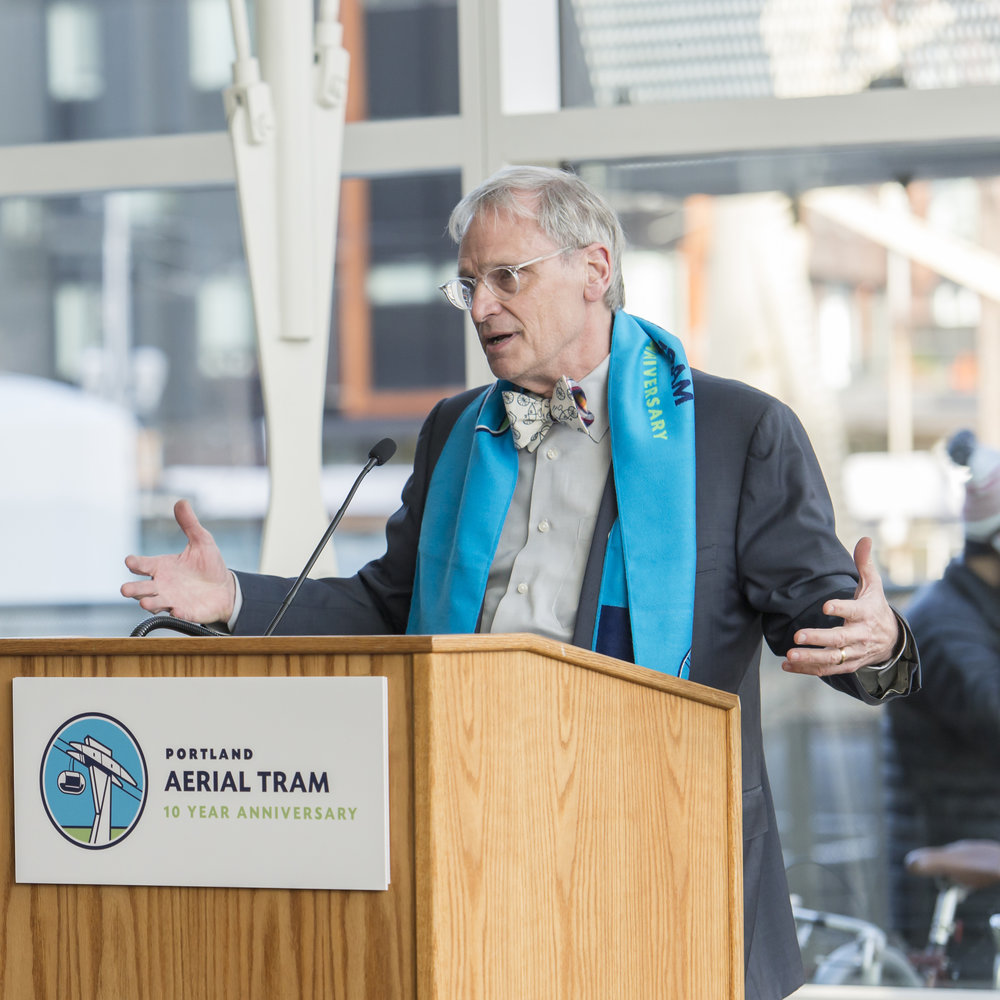 Congressman Earl Blumenauer at the 10 Year Anniversary celebration.    See more pictures like this in the historic gallery.