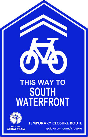 Look for this signage traveling from the hill to waterfront.