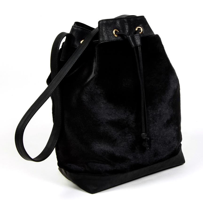 KANGAROO FUR BUCKET BAG — DEUX CUIRS c5db99c47bc97